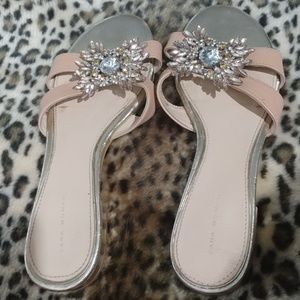 Zara Woman's Sandals with Rhinestones